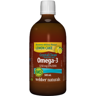 Webber Naturals Crystal Clean From The Sea Omega-3 Lemon Cake