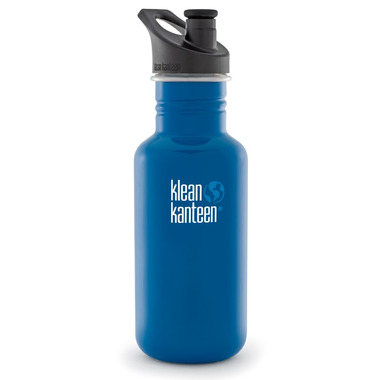 Klean Kanteen Classic Water Bottle with Sport Cap 3.0 Blue Planet