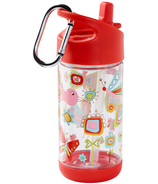 Sugarbooger Flip and Sip Clear Tritan Bottle Birds and Butterflies