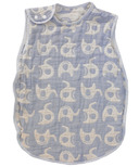 Living Textiles Muslin Reversible Sleeping Bag Blue Elephant