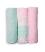 Lulujo Mini Muslin Cotton Cloths Pink Spotted Stripe
