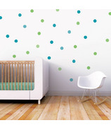 Trendy Peas Wall Decal Confetti Green & Teal