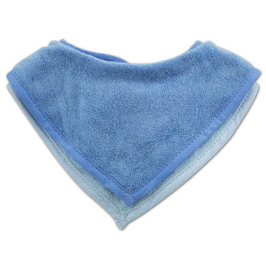 Bumkins Waterproof Terry Bandana Bib Blue