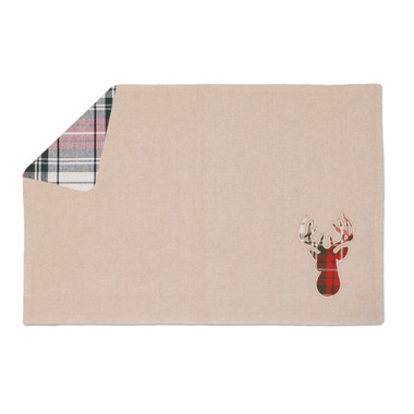 Domay Tartan Plaid Deer Reversible Placemat