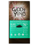 Giddy Yoyo Organic Raw Spirulina 76% Dark Chocolate Bar