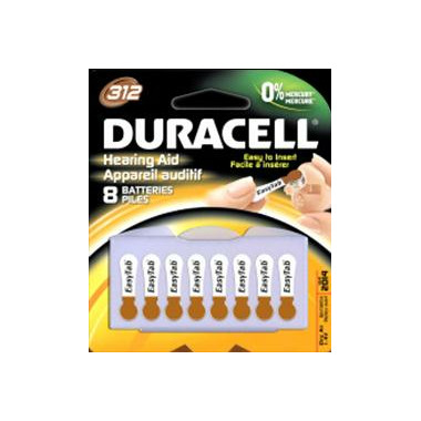 Duracell Hearing Aid Battery Size 312