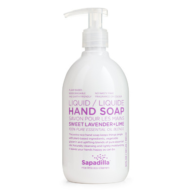 Sapadilla Sweet Lavender + Lime Liquid Hand Soap