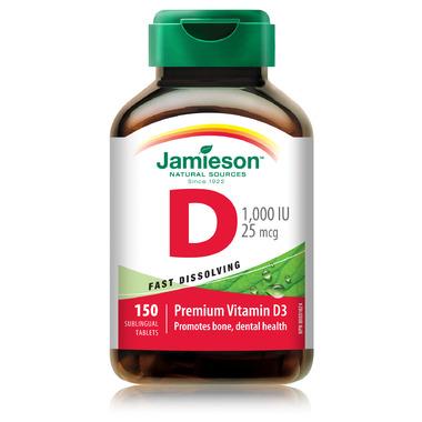 Jamieson Vitamin D3 Sublingual Tabs