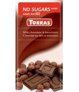 Torras No Sugar Added Milk Chocolate & Hazelnuts
