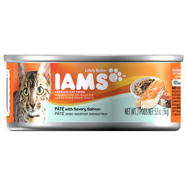 Iams Cat Food Pate With Salmon
