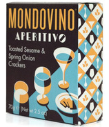 Mondovino Artisan Biscuits Toasted Sesame & Spring Onion Crackers