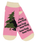 Little Blue House Women's Ankle Socks Bear Hug