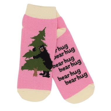 Little Blue House Women\'s Ankle Socks Bear Hug