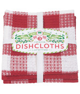 Now Designs Dishcloth Set Holiday Check