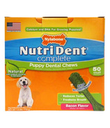 Nutri Dent Complete Dental Chews for Puppy Bacon 50 Pack