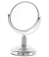 Danielle Creations Mini Pearl Studded Stem Chrome Mirror