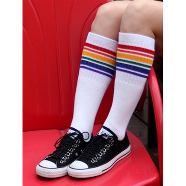 Pride Socks Fearless Knee High Tube Socks