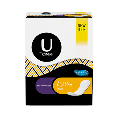 U by Kotex Lightdays Panty Liners Extra Coverage