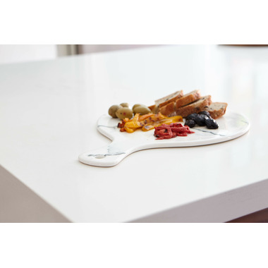Harman Marble Look Tray with Handle Round