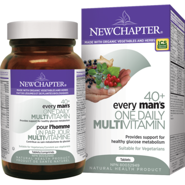 New Chapter Every Man\'s One Daily 40+ Whole Food Multivitamin