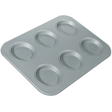 Non-Stick 6-Cup Large Shallow Muffin Pan
