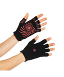 Gaiam Grippy Yoga Gloves Black & Pink