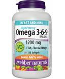 Webber Naturals Omega 3-6-9 Bonus Size
