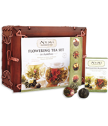 Numi Organic Tea Flowering Tea Set in Bamboo Case