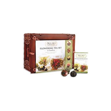 Numi Organic Tea Flowering Tea Set in Bamboo Case