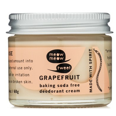meow meow tweet Baking Soda Free Deodorant Cream Grapefruit