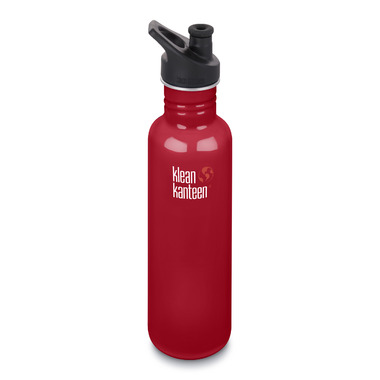 Klean Kanteen Classic Bottle with Sport Cap 3.0 Mineral Red