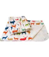 Oko Creations Large Organic Cotton Baby Blanket Elk