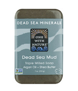 One With Nature Dead Sea Mineral Mud Soap with Argan Oil & Shea Butter