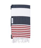Lualoha Turkish Towel Striped Goodness Navy & Red