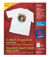 Avery Light T-Shirt Transfers for Inkjet Printers