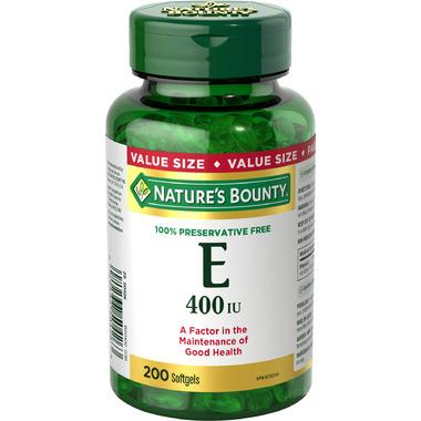 Nature\'s Bounty 100% Preservative Free Vitamin E