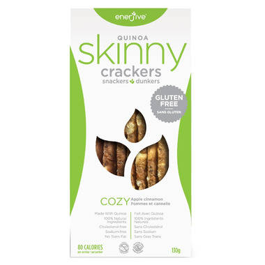 Enerjive Apple Cinnamon Cozy Quinoa Skinny Crackers