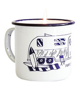 Forest & Waves Coastal Blue Enamel Mug Candle Eucalyptus Scent