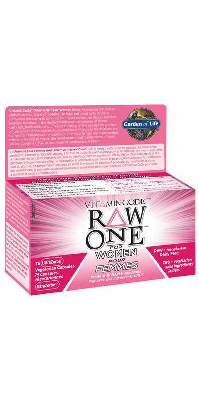 Buy Garden Of Life Vitamin Code Raw One For Women At Free Shipping 35 In Canada
