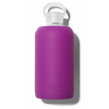 bkr Lola Glass Water Bottle Opaque Fuscia