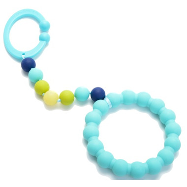 Chewbeads Baby Gramercy Stroller Toy Turquoise