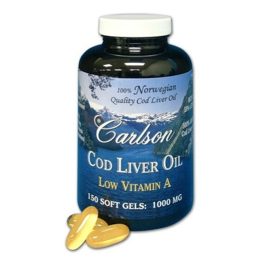 Carlson Cod Liver Oil with Low Vitamin A