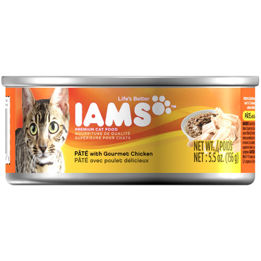 Iams Cat Food Pate With Gourmet Chicken