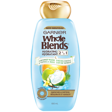 Garnier Whole Blends Coconut Water Vanilla Milk Hydrating 2-in-1
