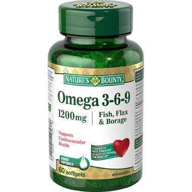 Buy nature 39 s bounty omega 3 6 9 fish flax borage at well for Fish flax borage oil