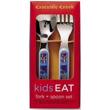 Crocodile Creek Cutlery Set Busy City