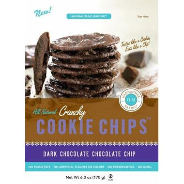 HannahMax Crunchy Cookie Chips Dark Chocolate Chip