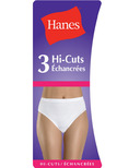 Hanes Women's Classic Cotton Hi-Cut Briefs
