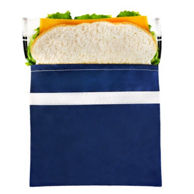 Lunchskins Navy Bike Sandwich Bag