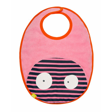 Lassig Little Monsters Waterproof Medium Bib Mad Mabel